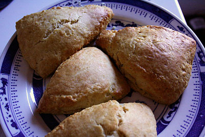 freshly baked lemon cream scones
