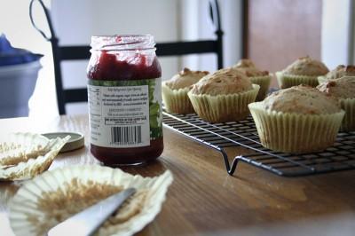 delicious with raspberry jam
